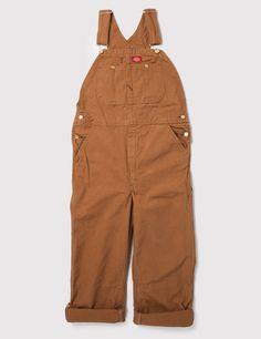 Dickies Bib Overalls - Rinsed Brown