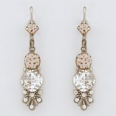 Sorrelli French Blush Collection Drop Earrings with Flange