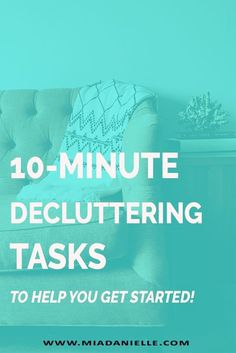 Here are decluttering tasks to help you get started with minimalism, clutter-free living, or just a decluttering spree.