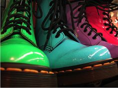 Rainbow of Doc Martins