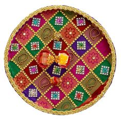 1000 images about rangoli and aarti on pinterest for Aarti thali decoration with flowers