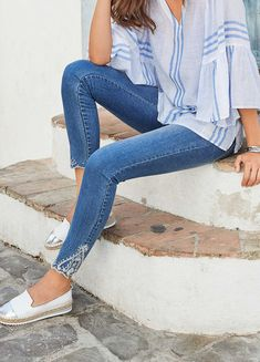 Together Embroidered Jeans True Jeans, Embroidered Jeans, Occasion Wear, Cropped Jeans, Stylish Outfits, Bell Bottom Jeans, Skinny Jeans, Casual, How To Wear