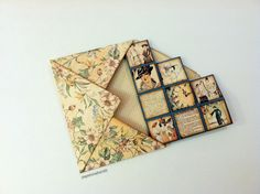 """Blocks Card Flat Envelope by papercrafter45 using """"A Ladies' Diary"""" paper collection from Graphic 45"""