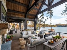This new collection of outdoor designs features 16 Outstanding Rustic Porch Designs You Will Fall In Love With. Check them out! The rustic porch is the best place to spend your days if you live in an area… Design Your Dream House, House Design, Outdoor Rooms, Outdoor Living, Rustic Deck, Rustic Lake Houses, Haus Am See, Lakeside Living, Cool Deck
