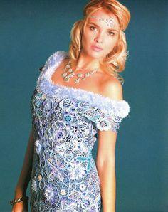 Crochet Patterns Russian eBook Irish Lace Dresses Wedding Fashion Diagram Charts FREE SHIPPING - EFC035