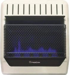 PROCOM HEATING MGT20BF 20,000 BTU Dual Fuel Blue Flame Gas Wall Heater Laundry Alternative, Best Space Heater, Cotton Candy Party, Juice Maker, Beverage Refrigerator, Portable Heater, Drain Pump, Blue Flames