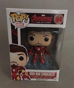 Funko POP! Iron Man Unmasked #94 Avengers Age of Ultron Amazon Exclusive