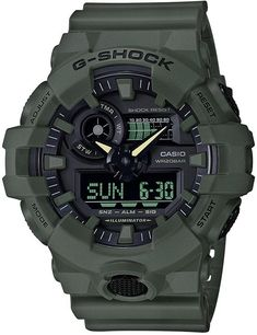 ae2e3b26783 G-Shock Men s Analog-Digital Green Resin Strap Watch 53mm New G Shock