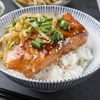 Japanse zalm uit de oven.