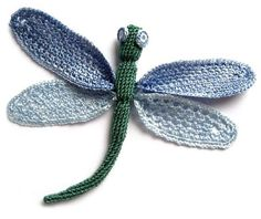 Crochet Dragon Fly Chart...site has a butterfly chart too!