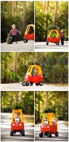 The cutest little Cozy Coupe Christmas Tree shoot of all time! Love my baby boy! Photos by Jake Galati Photography