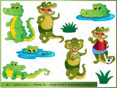 Crocodile / Alligator Clipart  Digital Clip Art by DigitalFileShop, $4.75