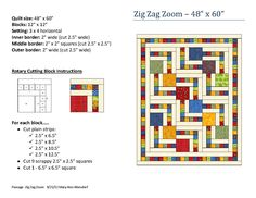 Zig Zag Zoom quilt pattern by Mary Ann Altendorf
