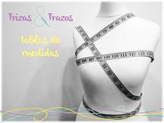 Medidas estándar para costura, punto y ganchillo