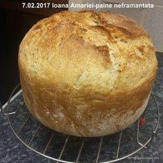 Paine de casa neframantata reteta rapida   Savori Urbane Bread Recipes, Cooking Recipes, Falafel, Muffin, Food And Drink, Yummy Food, Sweets, Healthy, Breakfast