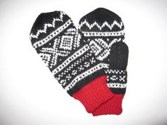 Marius pattern Knit Mittens, Yarn Projects, Knitting Accessories, Knits, Needlework, Free Pattern, Knit Crochet, Beading, Gloves