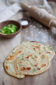 Green Onion (Scallion) Pancake, learn how to make this favorite Chinese breakfast pancake with only 3 ingredients. http://rasamalaysia.com