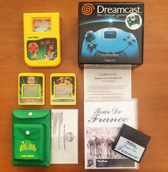 A few cool little pick ups.  I caught the Power Rangers bug a little bit after seeing the new movie.  Dreamcast controller box in perfect shape and my first homebrew game for the Vectrex that's not on a multi cart. It's pretty much a hack of Hyper Chase with bikes.  But it's fun.  #lukesvideogameroom #dreamcast #tourdefrance #sega #vectrex #retrogaming #retrocollective #gameroom http://xboxpsp.com/ipost/1491739695070237499/?code=BSzuVleAtM7
