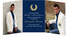 Gold Seal Graduation Announcement by PurpleTrail.com. #graduationannouncements #goldgraduation