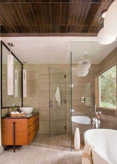 Modern Bathroom by Rabaut Design Associates, Inc.