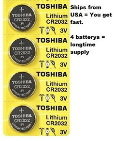 4 Pack Lithium Coin Battery compatible with Polar FT1, FT2, F6 & H7 Heart Rate Monitor