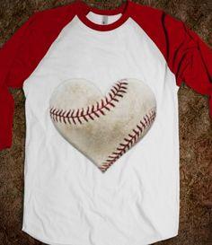 heart, baseball, love