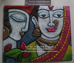 Art Syllabus, Art Sketches, Art Drawings, Emboss Painting, Indian Contemporary Art, Mural Art, Murals, Kalamkari Painting, Indian Folk Art