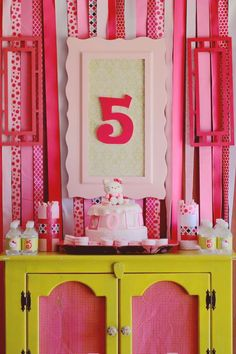Hello Kitty Birthday Party karaspartyideas.com #hello #kitty #party #ideas