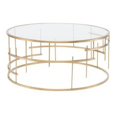 Madeline Coffee Table, Gold (4,160 AED) ❤ liked on Polyvore featuring home, furniture, tables, accent tables, glass top table, glass top coffee table, glass top accent table, gold table and gold furniture