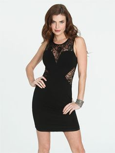Arden B. --Ponte Lace Cutout Dress  Style Number: 47047600