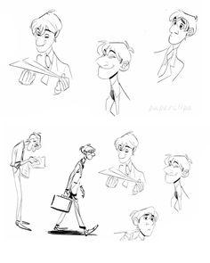 disney paperman concept art | ... sobre o curta Paperman, da Disney | THECAB - The Concept Art Blog