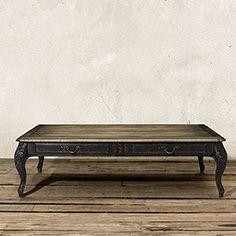 "Scarlett 56"" Rectangle Coffee Table in Black"