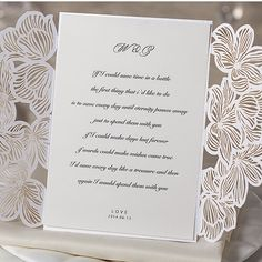 Simple Flower Shaped Lace White Laser Cut Wedding Invitations