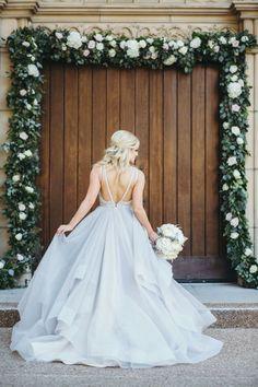 Wedding dress: Hayley Paige Bridals - Katey and Paul's Dallas Wedding by Alicia McMillan (Planner) + Jojo Pangilinan Photographers - via Grey likes weddings