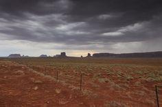 West, Monument Valley, Dark Skies