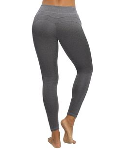 CHRLEISURE Yoga Pants for Women  High Waisted Leggings with Tummy Control Ruched Butt and V Waist Design Capris Leggings ADGray M ** Check this awesome product by going to the link at the image. (This is an affiliate link) #yogaleggings