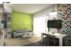 Living SMART :: il soggiorno di Fabio | spazio 14 10 | architettura interni low cost - grafica - Roma