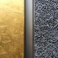 24-karat gold leaf meets aluminum foam #fondazioneprada #oma #milano (at Fondazione Prada)