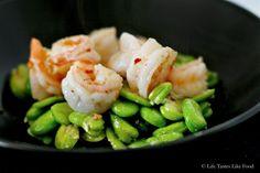 Sauteed Shrimp and Fava Beans