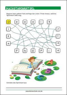 Buchstabenrätsel - Sprichwort - Buchstabenspiele für Kinder