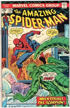 """*** The Amazing Spider-Man #146 *** """"When Strikes the Scorpion"""" Marvel Comics, July 1975 Cover Gloss looks like it was just purchased. Nice book for a 40-year old Bronze-Age comic book ! FREE U.S. DOM"""