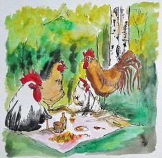 AKR.ZeitRaub - PICK(en)NICK(en) - illustration von PiepShow  auf DaWanda.com