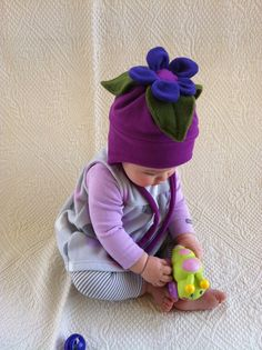 Fleece Flower Hat
