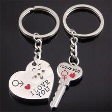 1 par chave para o meu coração chaveiro presentes de casamento para convidados favores e presentes lembranças de casamento suprimentos Obsequios Boda(China (Mainland))