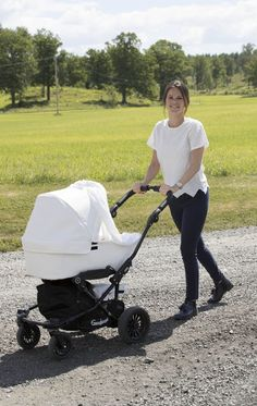 Princess Sofia of Sweden with baby Prince Alexander in the strollers during the Stenhammar day near Stenhammer palace on June 13, 2016
