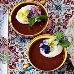 Chocolate-Espresso Pots de Creme Recipe | MyRecipes.com