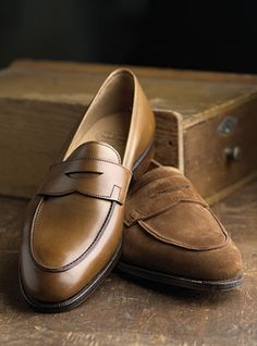 The Rosebery Loafer in Tobacco Suede and Antique Tan