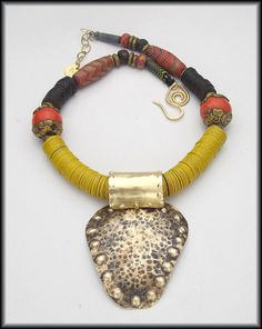 AFRICAN DRUMS  Handforged Bronze Tribal by sandrawebsterjewelry, $166.00