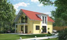 Evolution 122 V2 - Bien Zenker - http://www.hausbaudirekt.de/haus/evolution-122-v2/ - Fertighaus als Einfamilienhaus Modernes Haus Stadthaus mit Satteldach
