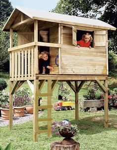 Boomhut kant-en-klaar | Ready to use treehouse Bron: toysxl